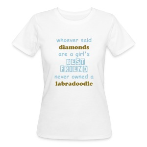 Diamonds Shirt Labradoodle - Frauen Bio-T-Shirt