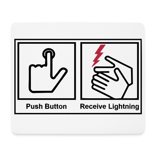 Push button, receive lightning mouse pad - Mouse Pad (horizontal)