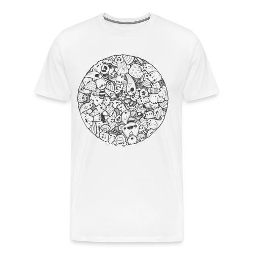 Kawaii Mandala (black) - Men's Premium T-Shirt