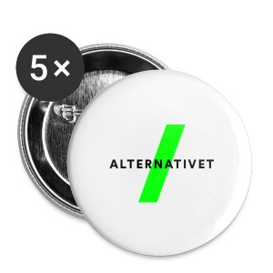 Alternativet 32 mm badge. 5 stk. - Buttons/Badges mellemstor, 32 mm