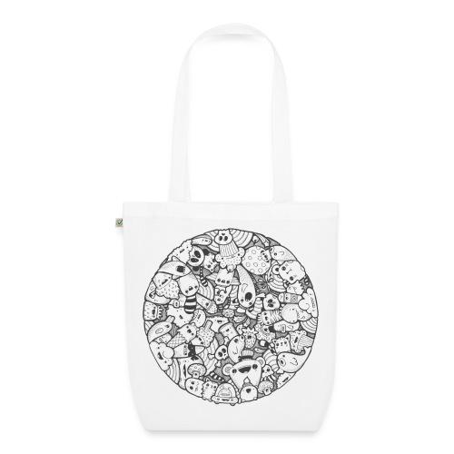 Kawaii Mandala (black) - EarthPositive Tote Bag