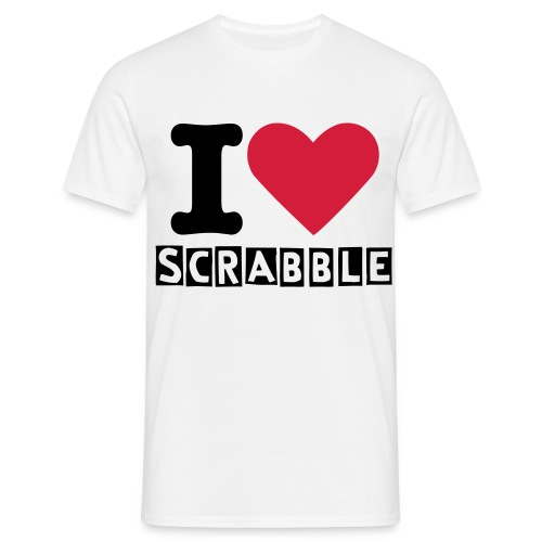 I LOVE SCRABBLE - Men's T-Shirt