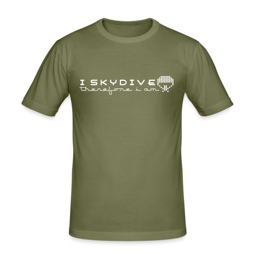 I skydive therefor i am - Men's Slim Fit T-Shirt
