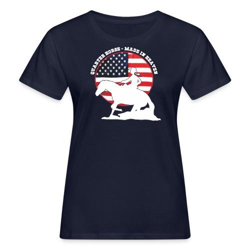USA Westernreiterin - Frauen Bio-T-Shirt