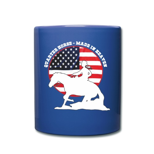 USA Westernreiterin - Tasse einfarbig