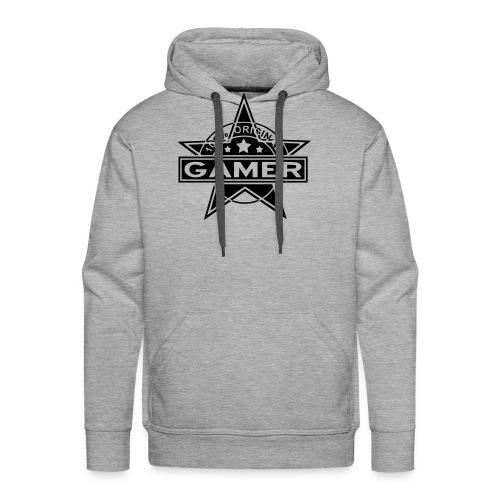 BROz Hoodie Gamer Logo Hinten Groß - Männer Premium Hoodie