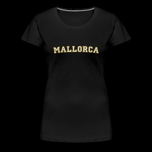 Mallorca T-Shirt College Style (Weiß/Gold) Damen - Frauen Premium T-Shirt