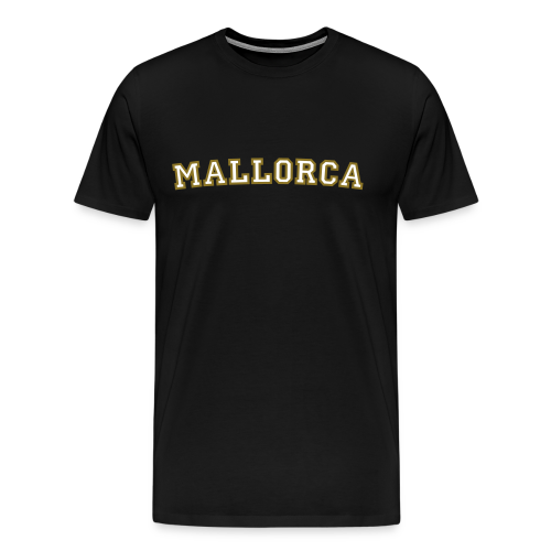 Mallorca T-Shirt College Style (Weiß/Gold) Herren - Männer Premium T-Shirt