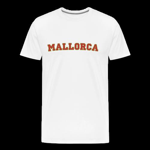 Mallorca T-Shirt College Style (Rot/Gold) Herren - Männer Premium T-Shirt
