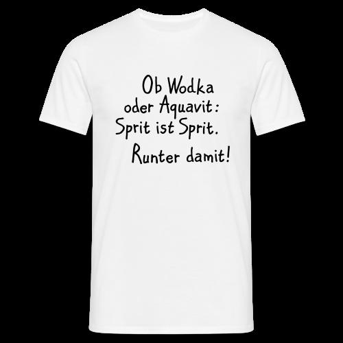 Trinkspruch T-Shirt Nr.3 (Herren Weiß/Schwarz) - Männer T-Shirt