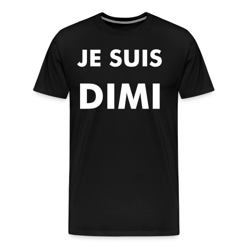 #jesuisdimi for him - white letters - Mannen Premium T-shirt
