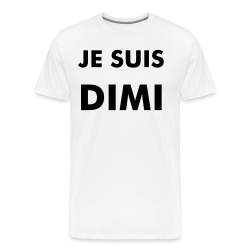 #jesuisdimi for him - black letters - Mannen Premium T-shirt