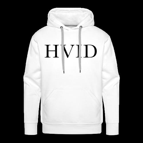 HVID - Herre Premium hættetrøje