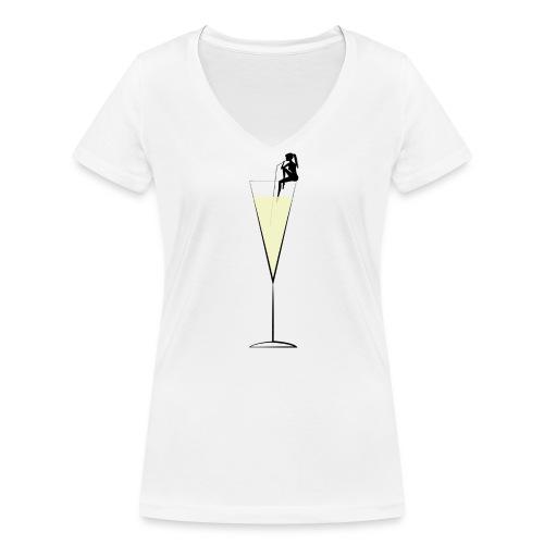 Champagne V-neck - Women's Organic V-Neck T-Shirt by Stanley & Stella