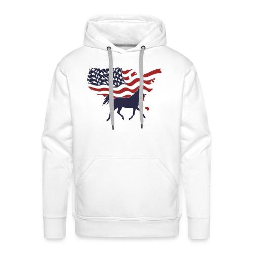 USA-Flagge-Pferd - Männer Premium Hoodie