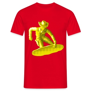 Yellow snowboarding toy - T-shirt Homme