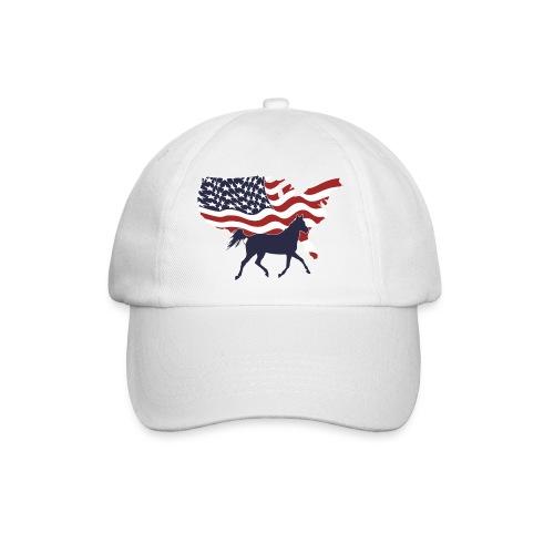 USA-Flagge-Pferd - Baseballkappe