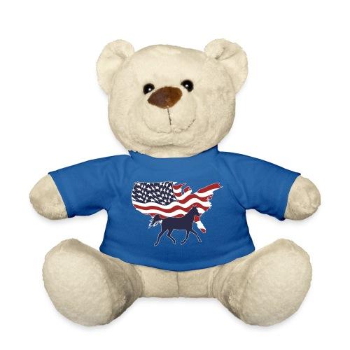 USA-Flagge-Pferd - Teddy