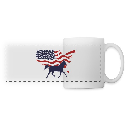 USA-Flagge-Pferd - Panoramatasse