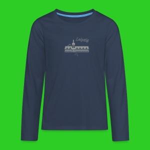 Leipzig altes Rathaus,  Premium Shirt longsleeve teenager - Teenager Premium Langarmshirt