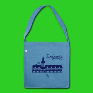 Leipzig altes Rathaus - Schultertasche aus Recycling-Material