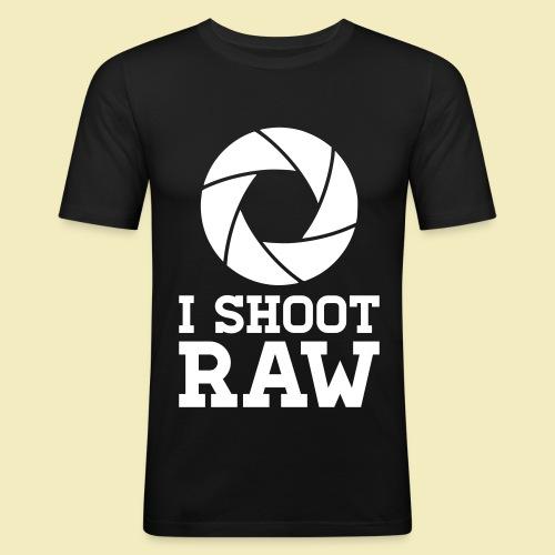T-Shirt: Scatto in Raw Uomo Aderente - Maglietta aderente da uomo