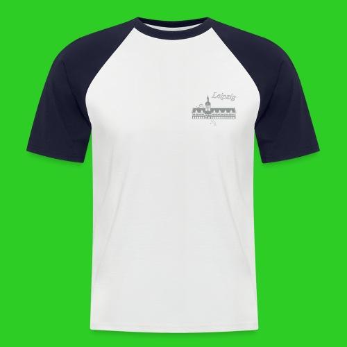 Leipzig altes Rathaus - Männer Baseball-T-Shirt