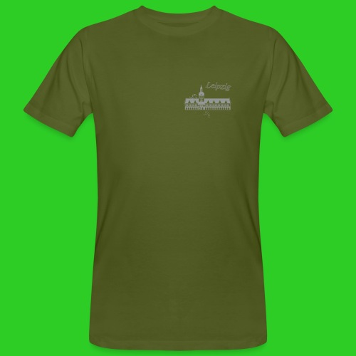 Leipzig altes Rathaus - Männer Bio-T-Shirt