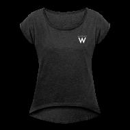 T-shirts ~ T-shirt med upprullade ärmar dam ~ Artikelnummer 102534553