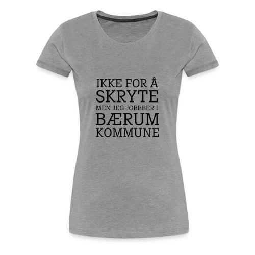 Bærum kommune - Premium T-skjorte for kvinner