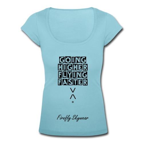 Higher/Faster Round Collar T Woman - Women's Scoop Neck T-Shirt