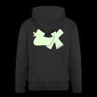 Pullover & Hoodies ~ Männer Premium Kapuzenjacke ~ Hoodie Ente mit X, phosphoriszierend!, hinten