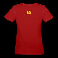 T-Shirts ~ Frauen Bio-T-Shirt ~ Ökotshirt mit Ente mit X, goldgelb, hinten