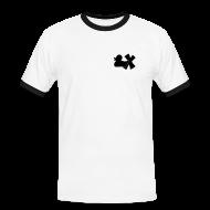 T-Shirts ~ Männer Kontrast-T-Shirt ~ Shirt mit Ente mit X schwarz, vorne