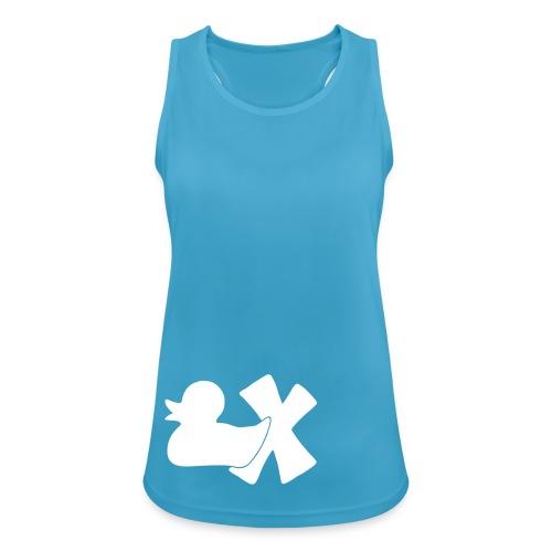 TankTop Ente mit X, weiß, vorne - Frauen Tank Top atmungsaktiv