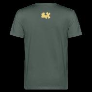 T-Shirts ~ Männer Bio-T-Shirt ~ Ökotshirt mit Ente mit X, beige, hinten