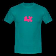 T-Shirts ~ Männer T-Shirt ~ Shirt Ente mit X, neonpink, vorne