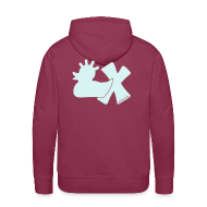 Pullover & Hoodies ~ Männer Premium Kapuzenpullover ~ Hoodie, Punkerente mit X, Reflektor!, vorne