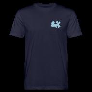 T-Shirts ~ Männer Bio-T-Shirt ~ Ökotshirt mit Ente mit X, himmelblau, vorne