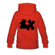 Pullover & Hoodies ~ Frauen Premium Kapuzenpullover ~ Hoodie, Punkerente mit X, schwarz samtig!, hinten