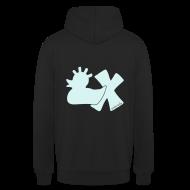 Pullover & Hoodies ~ Kapuzenpullover Unisex ~ Hoodie, Punkerente mit X, Reflektor!, vorne
