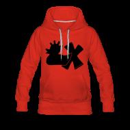 Pullover & Hoodies ~ Frauen Premium Kapuzenpullover ~ Hoodie, Punkerente mit X, schwarz samtig!, vorne