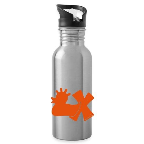 Trinkflasche mit Punkerente mit X - Trinkflasche