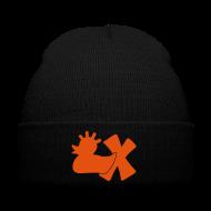 Caps & Mützen ~ Wintermütze ~ Mütze mit Punkerente mit X, orange samtig!