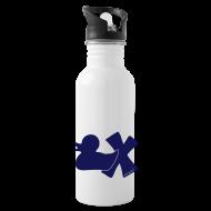 Tassen & Zubehör ~ Trinkflasche ~ Trinkflasche mit Ente mit X