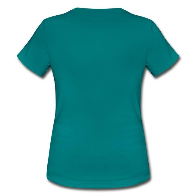 Shirt Ente mit X, neonpink, vorne