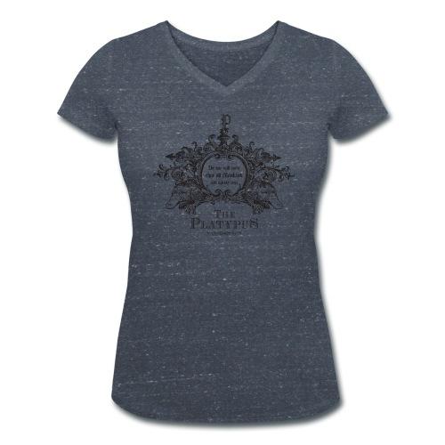 Platypus vrouwen v-hals bio - Vrouwen bio T-shirt met V-hals van Stanley & Stella