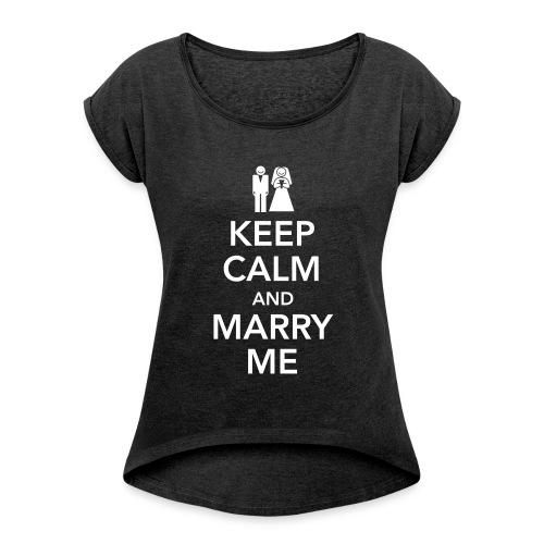 KEEP CALM 11 - Maglietta da donna con risvolti