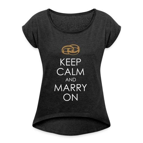 KEEP CALM 13 - Maglietta da donna con risvolti