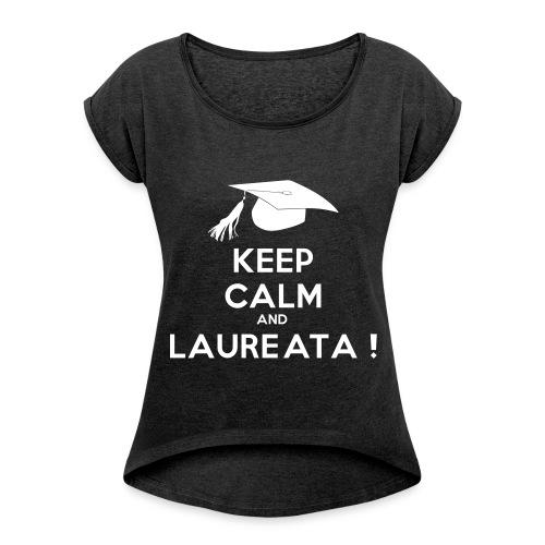 KEEP CALM 14 - Maglietta da donna con risvolti